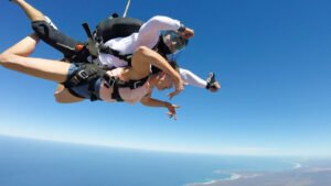 tandem skydiving at Mossel Bay